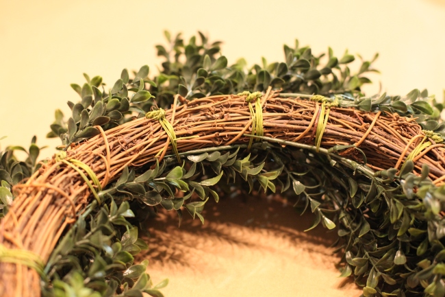 Boxwood Wreath Back